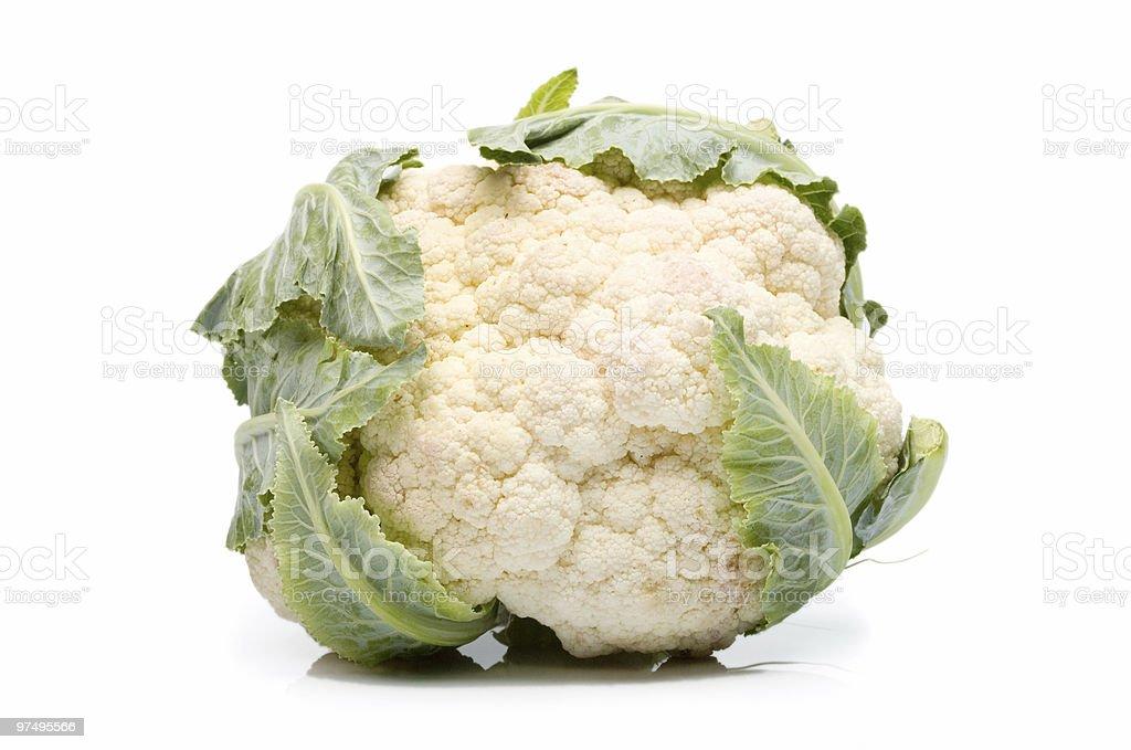 Cauliflower on white background royalty-free stock photo