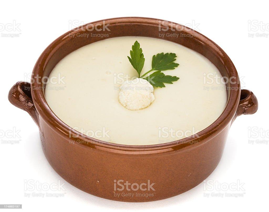 Cauliflower soup royalty-free stock photo