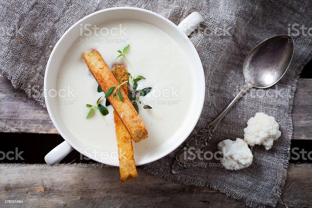 Blumenkohl-Cremesuppe – Foto