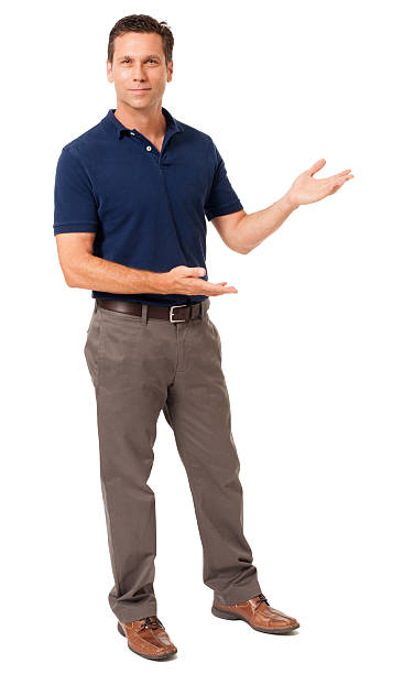 Causal Businessman Gesturing Showing Isolated on White Background Causal Businessman Gesturing Showing Isolated on White Background spokesperson stock pictures, royalty-free photos & images