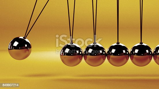 921145928 istock photo cause and effect concept, metal Newton's cradle on a white background 849907214