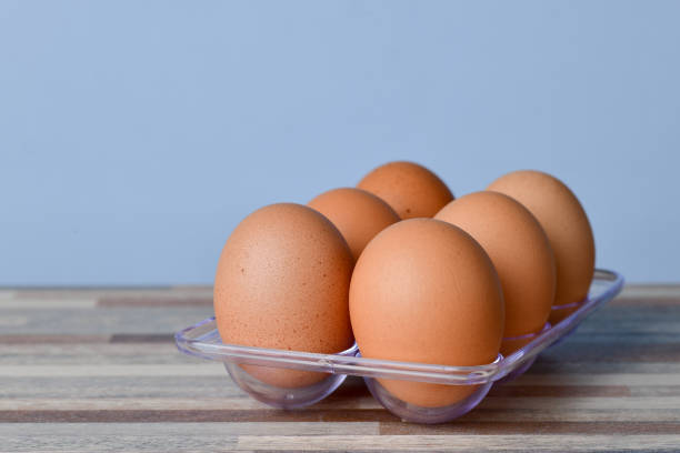 Cause up of Chicken Eggs stock photo