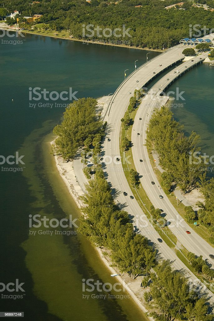 Causeway in the ocean royalty-free stock photo