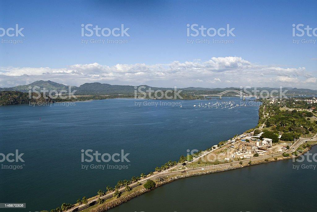 Causeway - Panama City stock photo