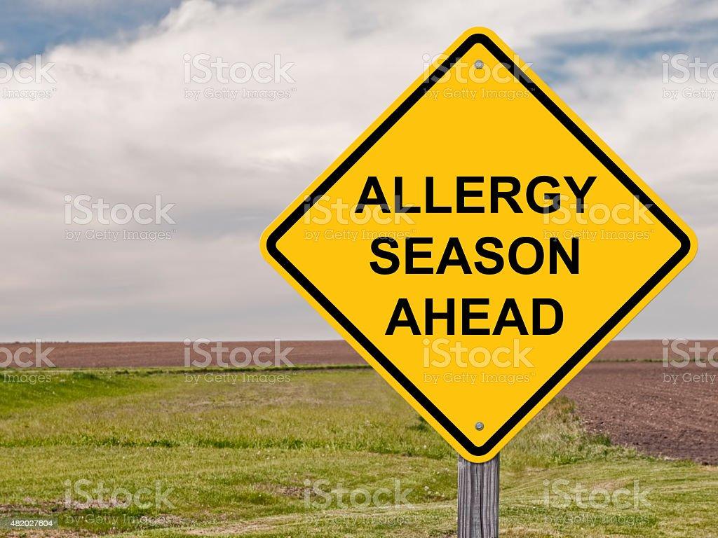 Caution - Allergy Season Ahead stock photo