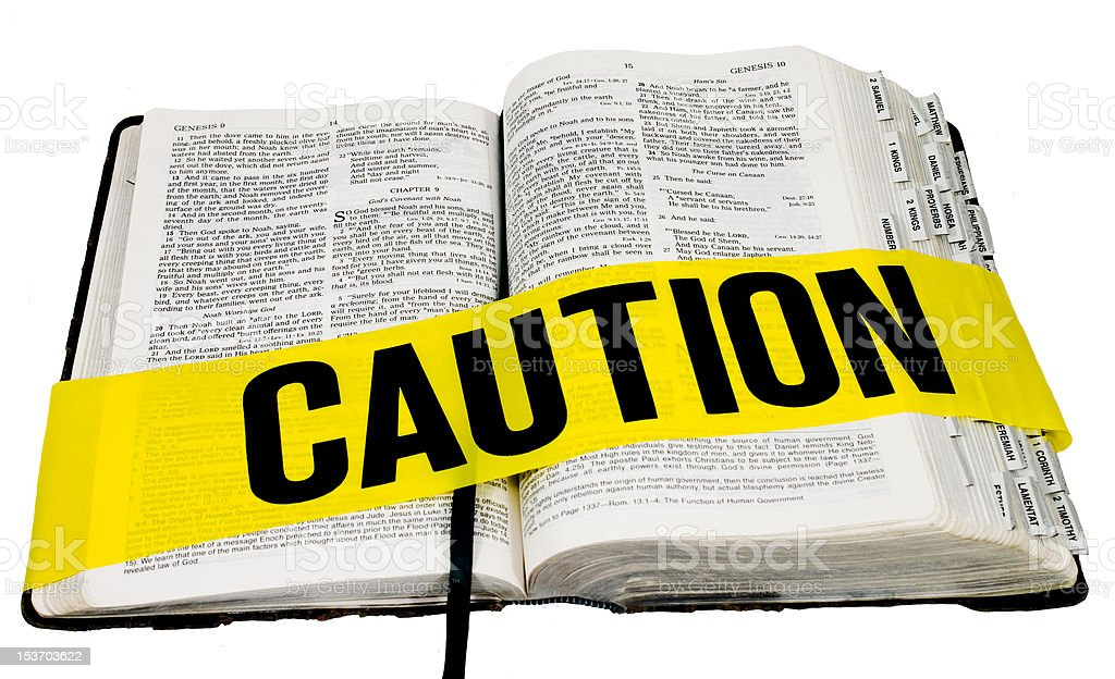 Caution: Bible royalty-free stock photo