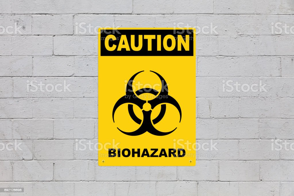 Caution - Biohazard stock photo