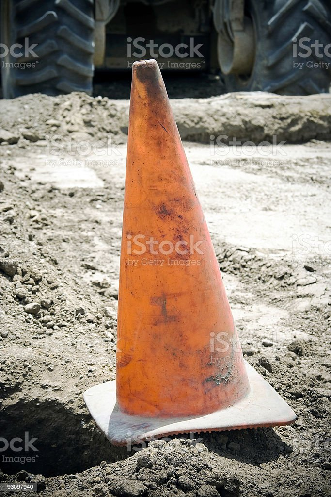 Caution Cone royalty-free stock photo
