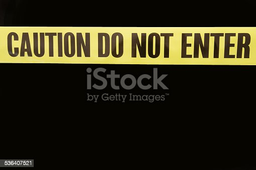 istock Caution Do Not Enter Tape 536407521