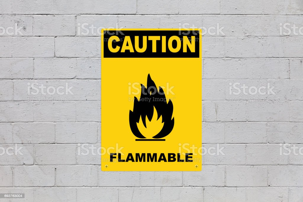 Caution - Flammable stock photo