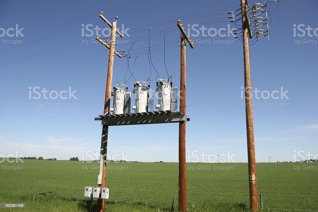 Caution. High Voltage royalty-free stock photo