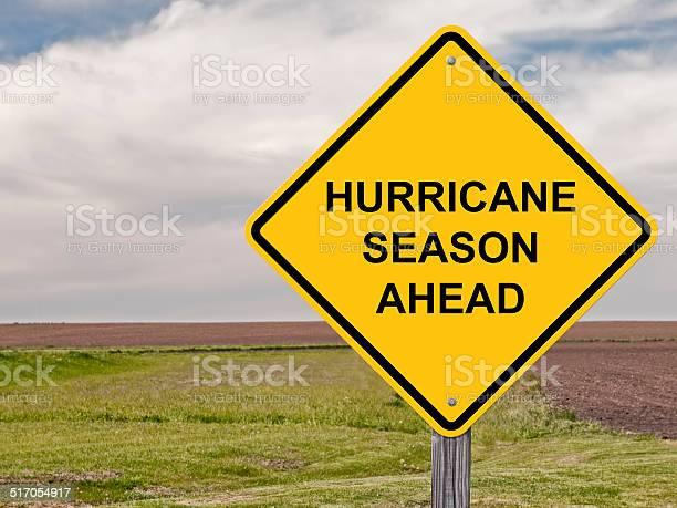 Caution Hurricane Season Ahead Stock Photo - Download Image Now