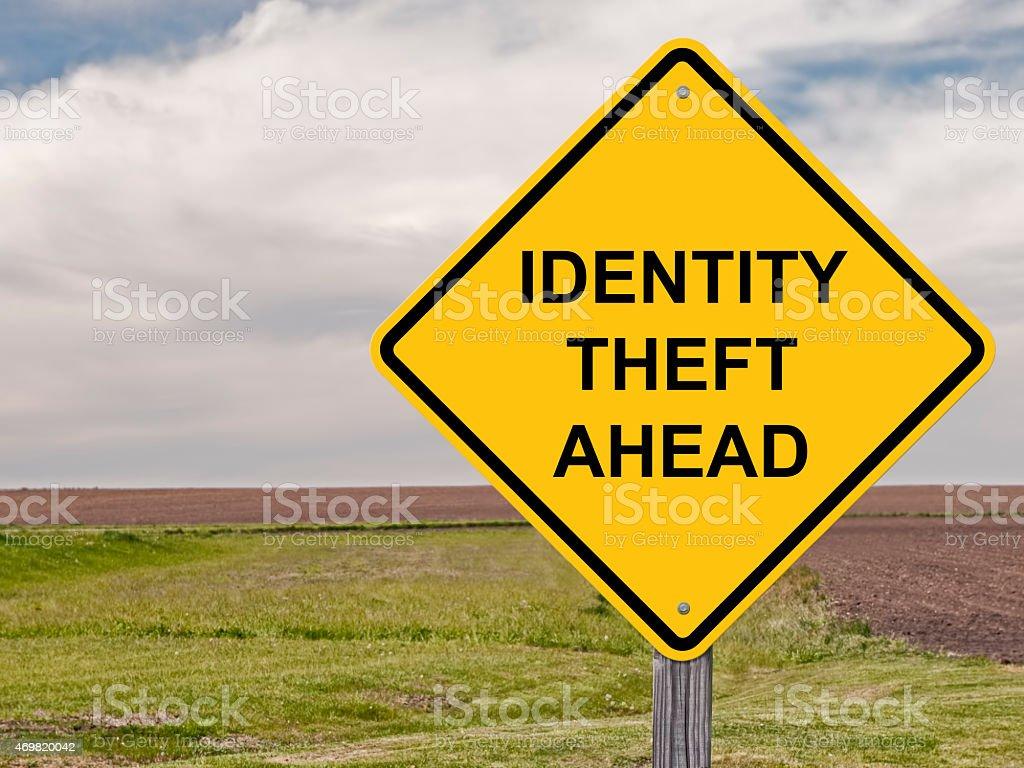 Caution - Identity Theft Ahead stock photo