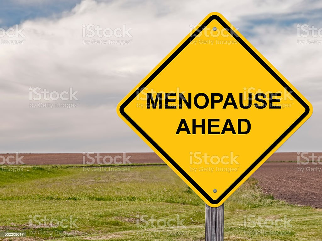 Caution - Menopause Ahead stock photo
