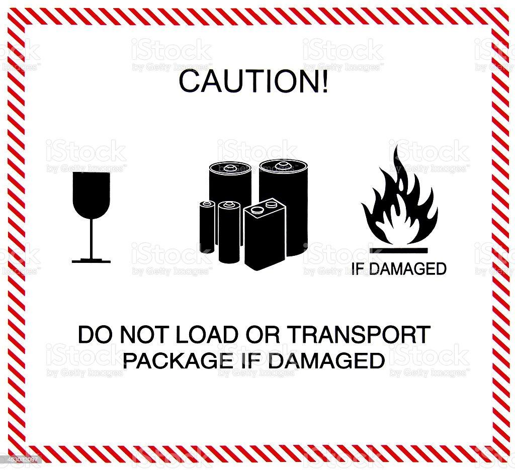Caution of transportation royalty-free stock photo