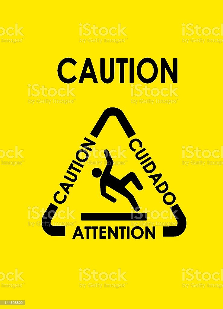 Caution! royalty-free stock photo