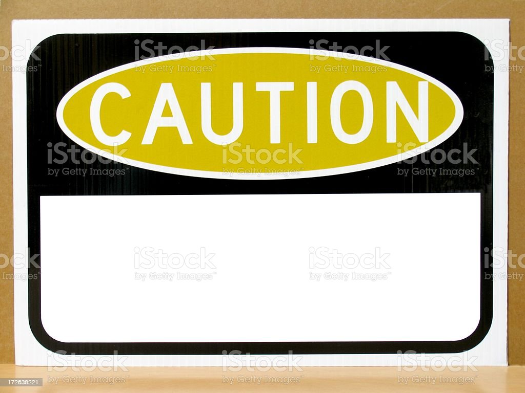 Caution royalty-free stock photo