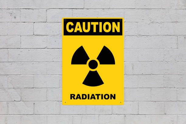Caution - Radiation stock photo