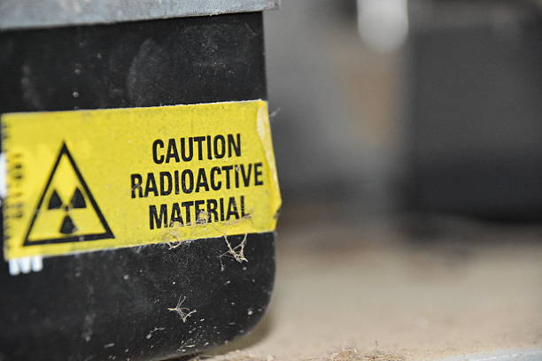 Caution Radioactive Material stock photo
