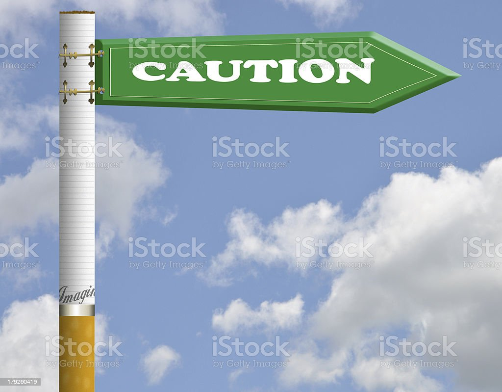 Caution road sign royalty-free stock photo