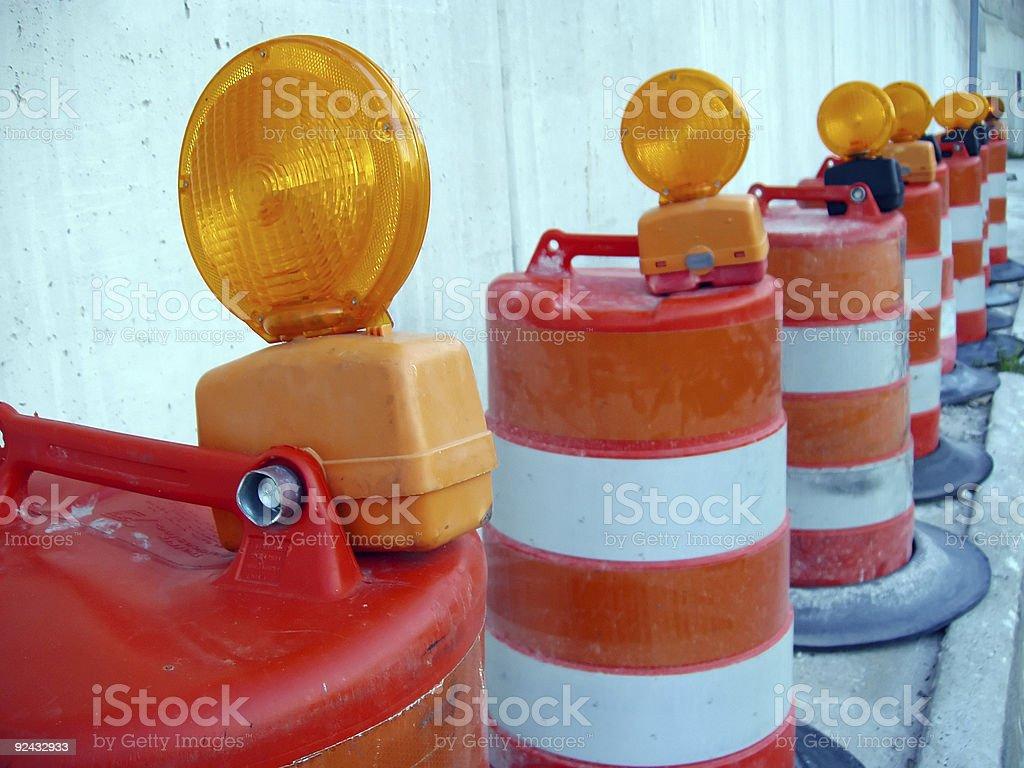 Caution Road Work stock photo