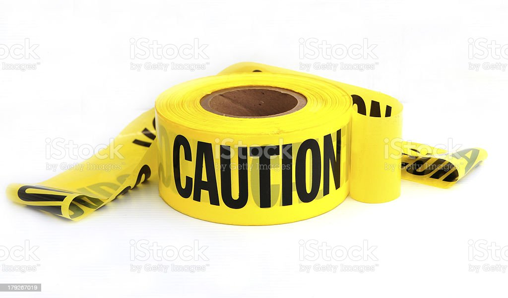 caution roll stock photo