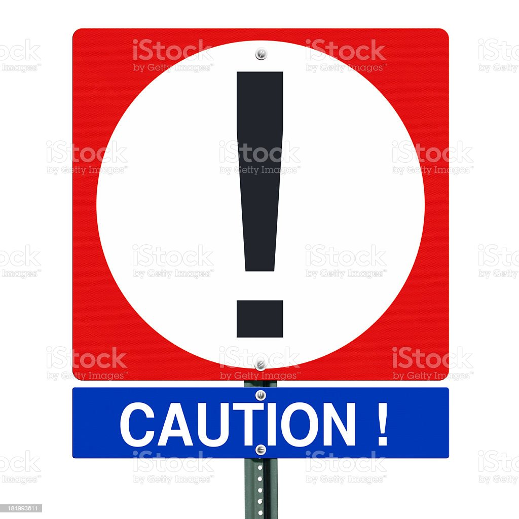Caution Sign Isolated royalty-free stock photo