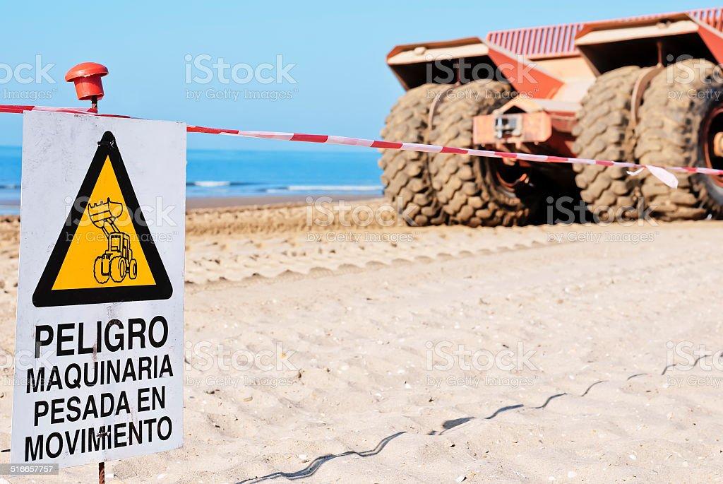 Caution signal stock photo