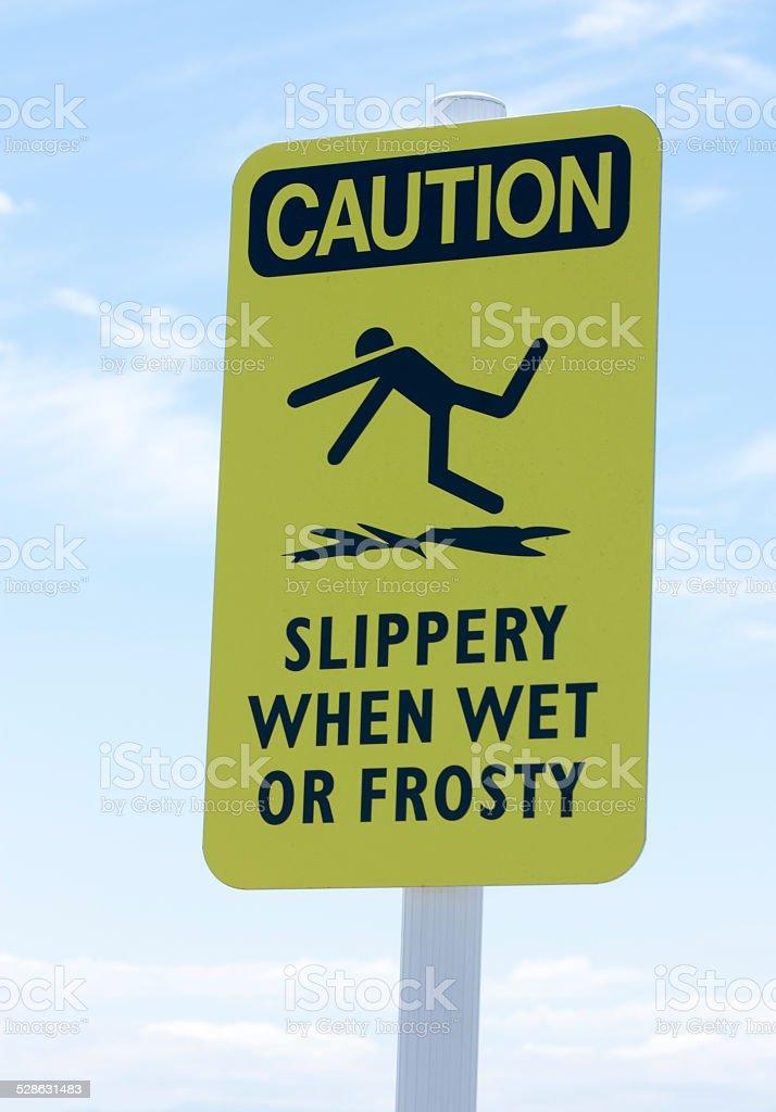 Caution: slippery stock photo