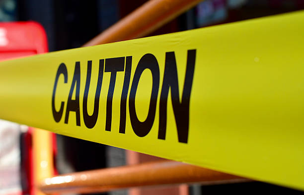 Caution tape Caution tape used in New York stealth stock pictures, royalty-free photos & images