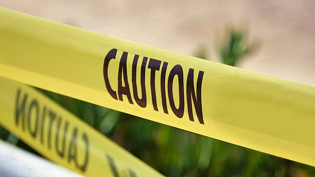 caution tape - adhesive tape stock photos and pictures