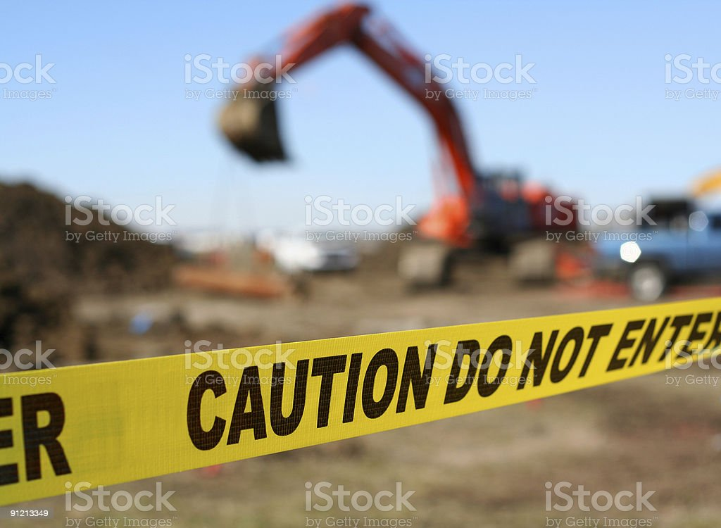 Caution tape royalty-free stock photo