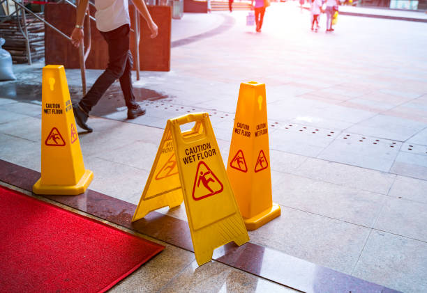 Caution wet floor Caution wet floor slippery stock pictures, royalty-free photos & images