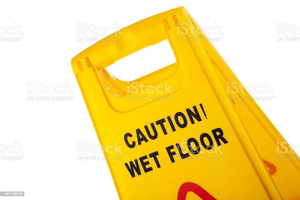 Caution wet floor. royalty-free stock photo