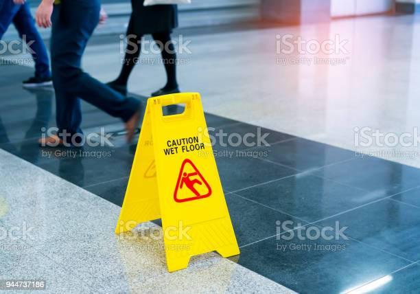 Photo of Caution wet floor