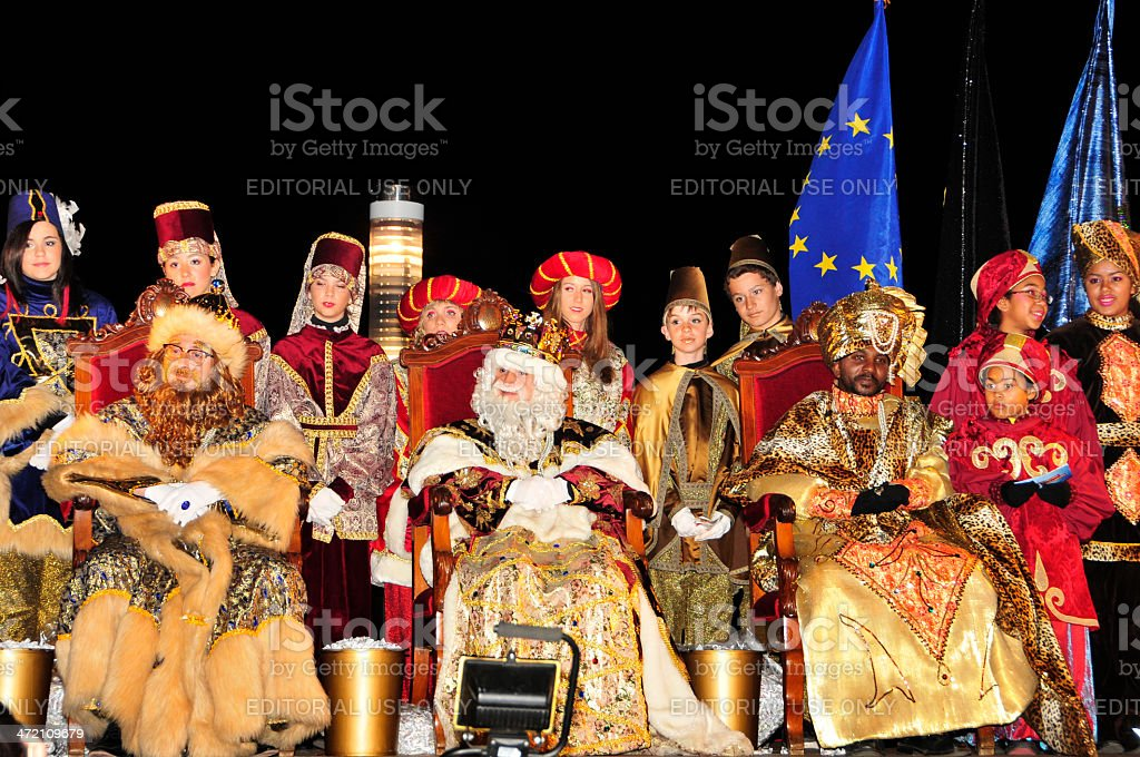 Cavalcade of Magi in Tarragona stock photo