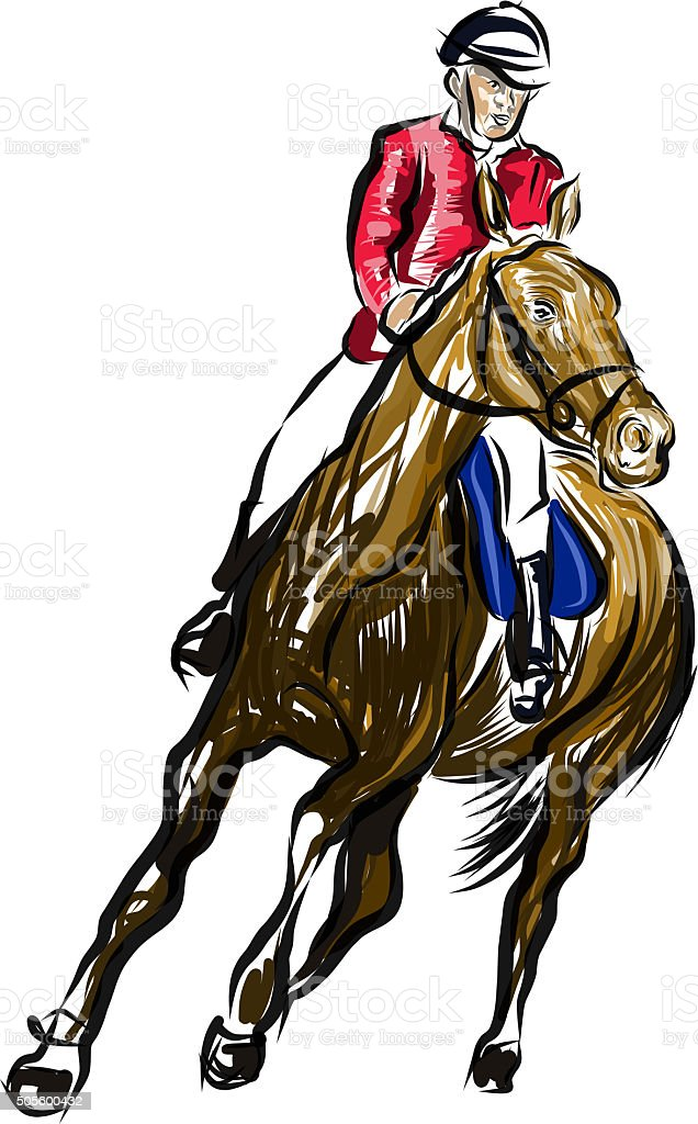 cavalier à cheval stock photo