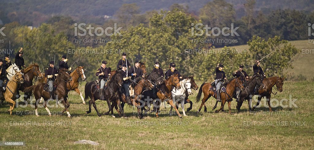 US Cavalry in the Shenandoah Valley Virginia Civil War stock photo
