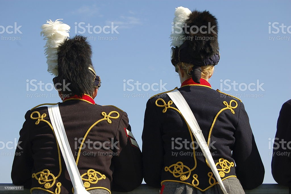 Cavalry Soldiers stock photo