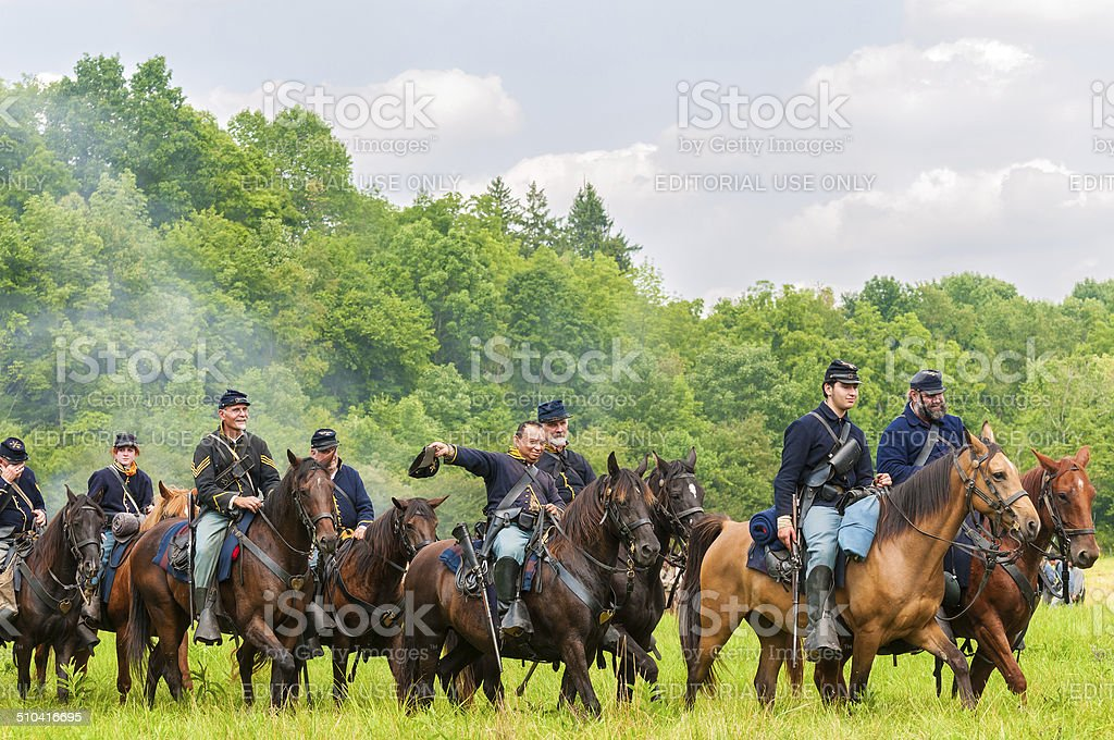 Cavalry victory parade stock photo
