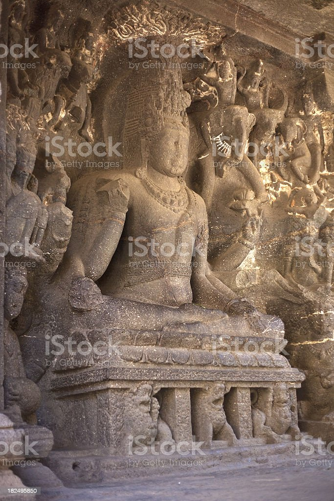 Cave  16 The Kailasa Temple In Ellora, India royalty-free stock photo