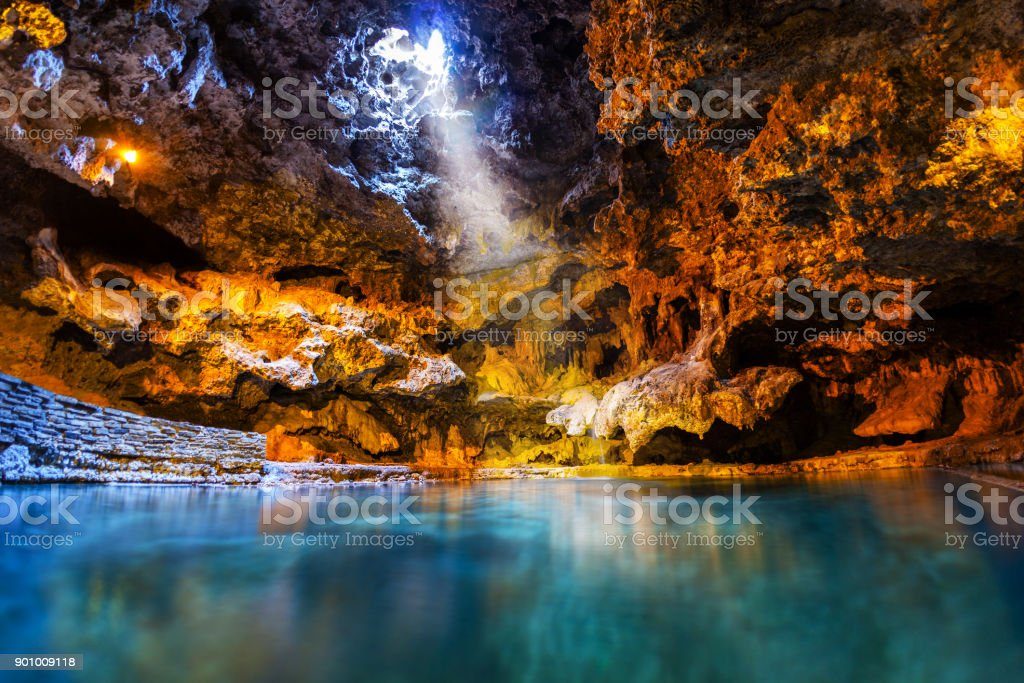Cave and Basin Historic Site in Banff National Park, Canada royalty-free stock photo