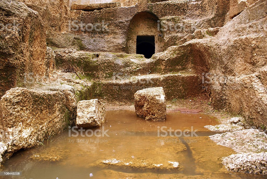 Cave and water royalty-free stock photo