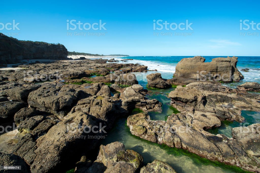 Cave beach in North of Sydney foto stock royalty-free