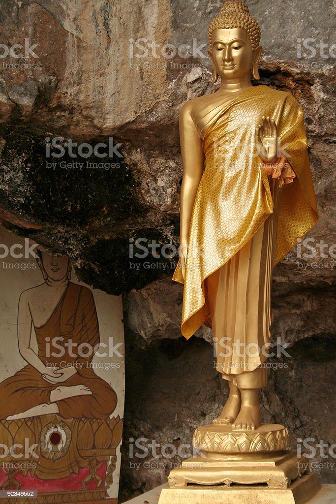 cave buddha tiger temple krabi royalty-free stock photo