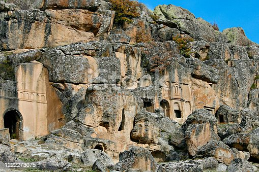 Valley of the Monastery with its cave churches in Guzelyurt, Cappadocia, Turkey
