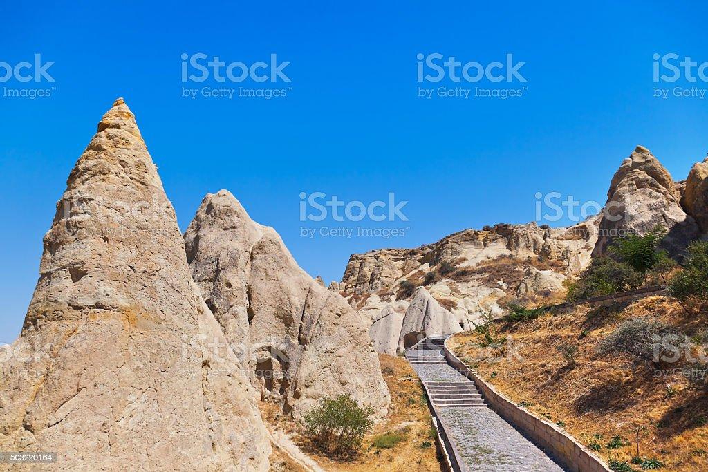 Cave city in Cappadocia Turkey stock photo