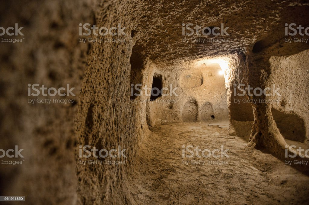 cave city in Cappadocia Turkey royalty-free stock photo