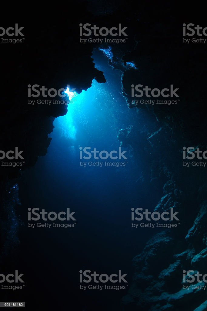 Cave Diving stock photo