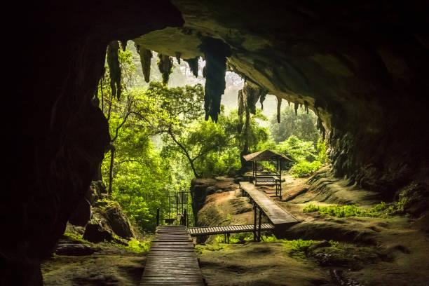 Cave entrance in Niah National Park, Niah Cave in Sarawak Malaysia stock photo